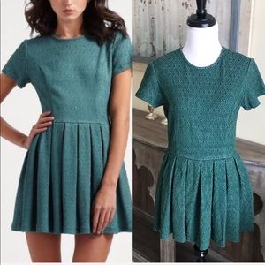 • Opening Ceremony • Green Pleated Mini Dress